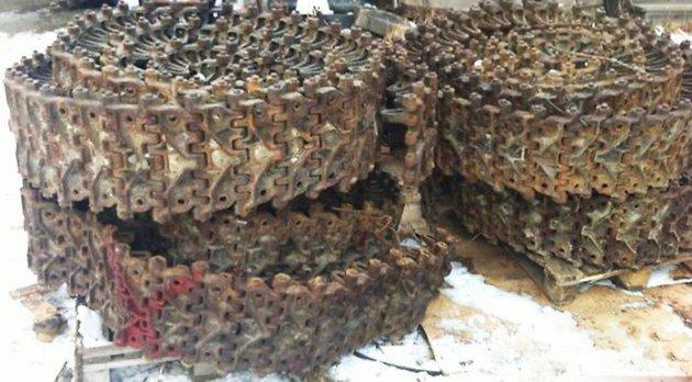 Гусеница узкая короткая (216 звеньев) комплект (8.34.002)